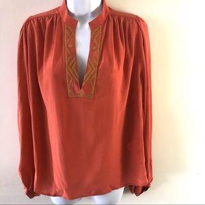 Winter Kate orange silk top, size S